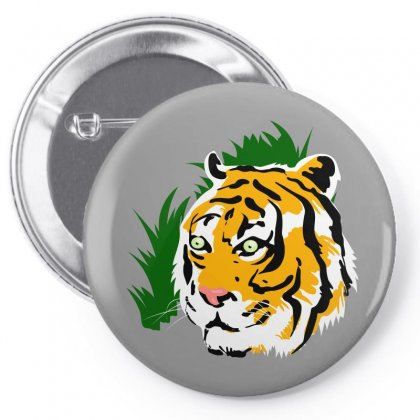 Tiger Pin-back Button Designed By Tapan