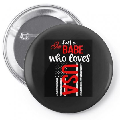 Babe Who Love America Pin-back Button Designed By Cogentprint