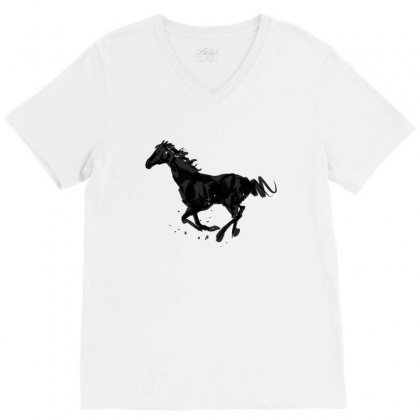 Horse V-neck Tee Designed By Tapan