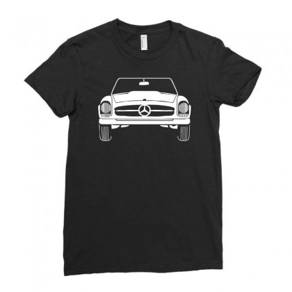 Design Mercedes W133 Sln Oldtimer Classic Kult Car Auto Vintage Cabrio Ladies Fitted T-shirt Designed By H4syim