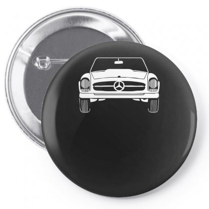 Design Mercedes W133 Sln Oldtimer Classic Kult Car Auto Vintage Cabrio Pin-back Button Designed By H4syim
