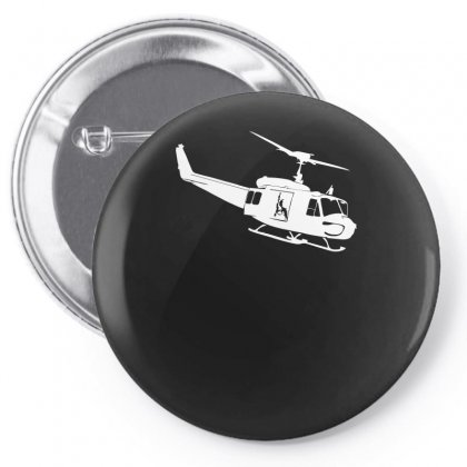 Design Uh 1h Helicopter Hubschrauber Us Army Irak Krieg War Vietnam Pin-back Button Designed By H4syim