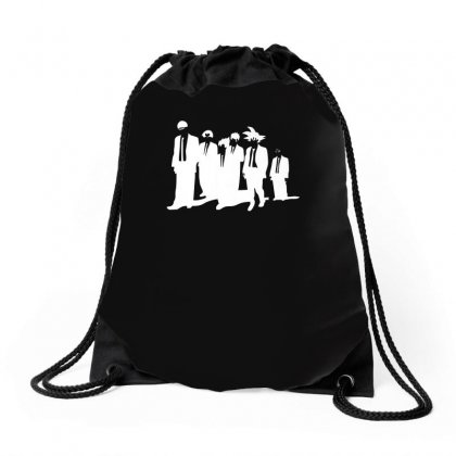 Dragon Ball Z Reservoir Dogs  Goku Krillin Vegeta Gohan Insaiyan Drawstring Bags Designed By H4syim