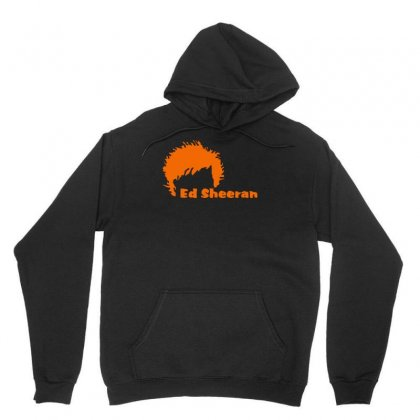 Ed Sheeran Silhoette Music Ginger Icon Singer Unisex Hoodie Designed By H4syim