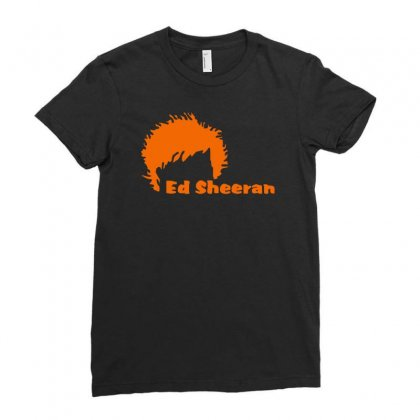 Ed Sheeran Silhoette Music Ginger Icon Singer Ladies Fitted T-shirt Designed By H4syim