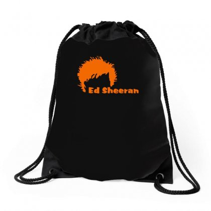 Ed Sheeran Silhoette Music Ginger Icon Singer Drawstring Bags Designed By H4syim