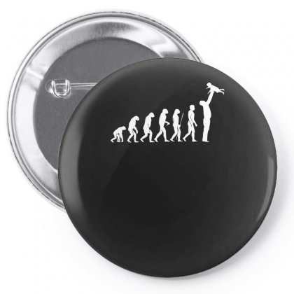 Evolution  Vater Eltern Papa Kind Baby Child Daddy Dad Parent Pin-back Button Designed By H4syim