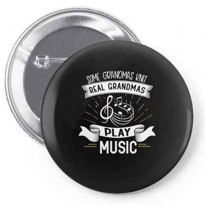 Grandmother Knit Music Design Pin-back Button Designed By Cogentprint