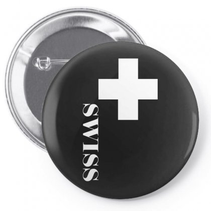 Fan , Switzerland Cross, Swiss Cross Pin-back Button Designed By H4syim