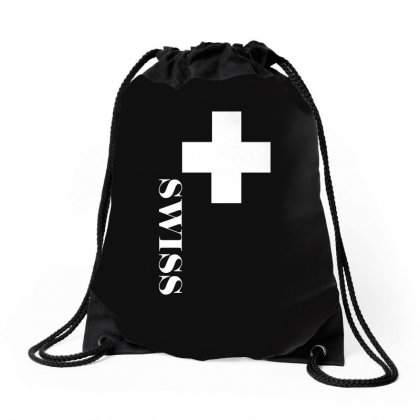 Fan , Switzerland Cross, Swiss Cross Drawstring Bags Designed By H4syim