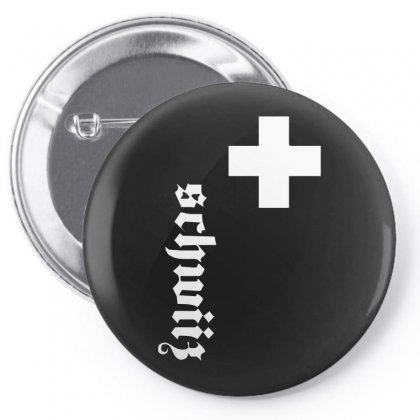 Fan, Swiss Cross, Switzerland, New Pin-back Button Designed By H4syim