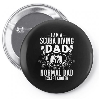 Scuba Dad Diver Design Pin-back Button Designed By Cogentprint