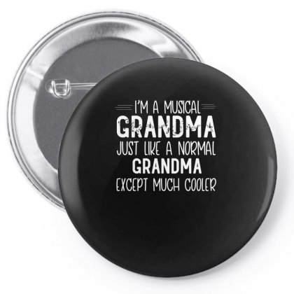 Musical Grandma Design Pin-back Button Designed By Cogentprint