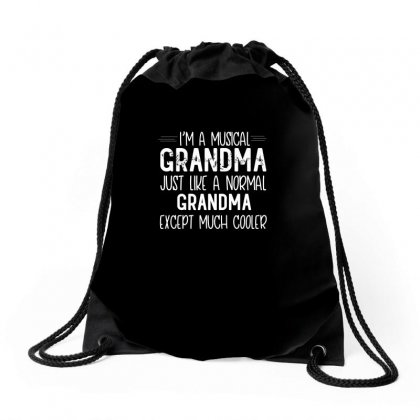Musical Grandma Design Drawstring Bags Designed By Cogentprint