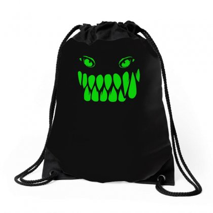 Fun Monster Face, Eat, Beast, Drawstring Bags Designed By H4syim