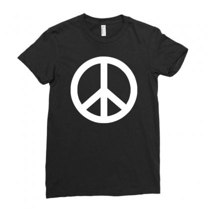 Fun Peace Friede Hippie Flower Power 60er 70er Woodstock Hendrix Ladies Fitted T-shirt Designed By H4syim