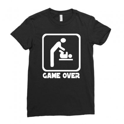 Game Over Daddy Funny Ladies Fitted T-shirt Designed By H4syim