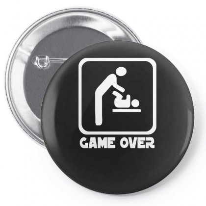 Game Over Daddy Funny Pin-back Button Designed By H4syim