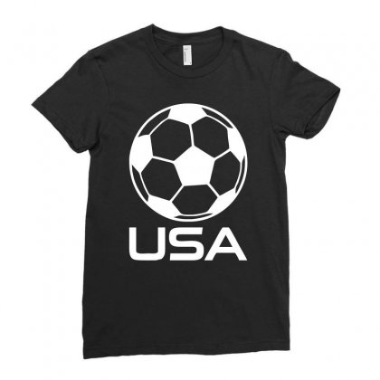 Usa Soccer Football Olympic Ladies Fitted T-shirt Designed By H4syim
