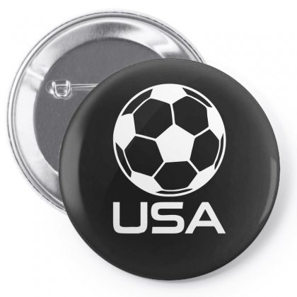 Usa Soccer Football Olympic Pin-back Button Designed By H4syim