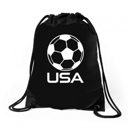Usa Soccer Football Olympic Drawstring Bags Designed By H4syim