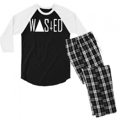Wasted Tee Men's 3/4 Sleeve Pajama Set Designed By H4syim