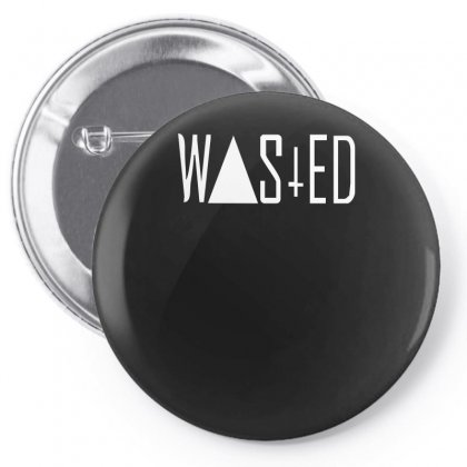 Wasted Tee Pin-back Button Designed By H4syim