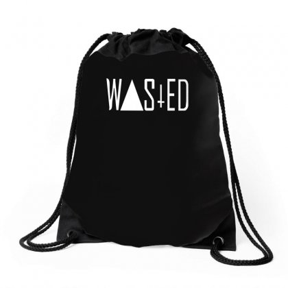 Wasted Tee Drawstring Bags Designed By H4syim
