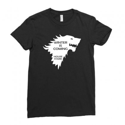 Winter Is Coming   House Stark Ladies Fitted T-shirt Designed By H4syim