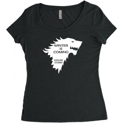Winter Is Coming   House Stark Women's Triblend Scoop T-shirt Designed By H4syim