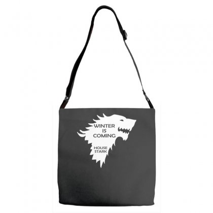 Winter Is Coming   House Stark Adjustable Strap Totes Designed By H4syim