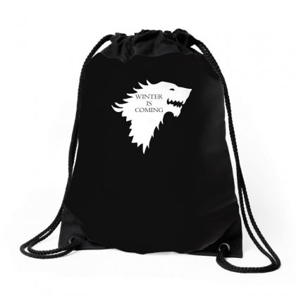 Winter Is Coming Drawstring Bags Designed By H4syim