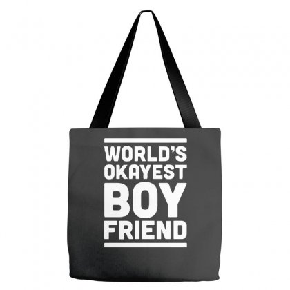 World's Okayest Boyfriend Couple Love Funny Tote Bags Designed By H4syim