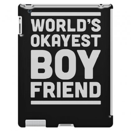 World's Okayest Boyfriend Couple Love Funny Ipad 3 And 4 Case Designed By H4syim