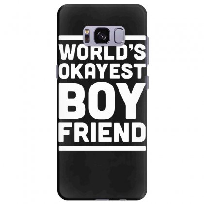 World's Okayest Boyfriend Couple Love Funny Samsung Galaxy S8 Plus Case Designed By H4syim