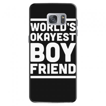 World's Okayest Boyfriend Couple Love Funny Samsung Galaxy S7 Case Designed By H4syim