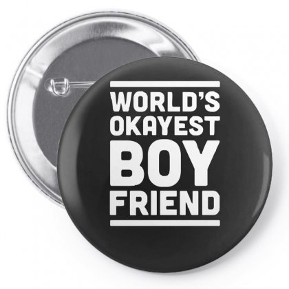 World's Okayest Boyfriend Couple Love Funny Pin-back Button Designed By H4syim
