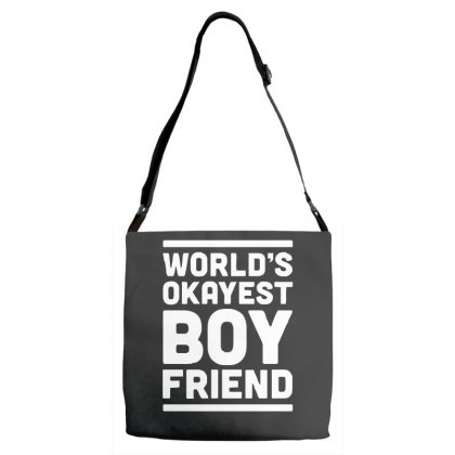 World's Okayest Boyfriend Couple Love Funny Adjustable Strap Totes Designed By H4syim