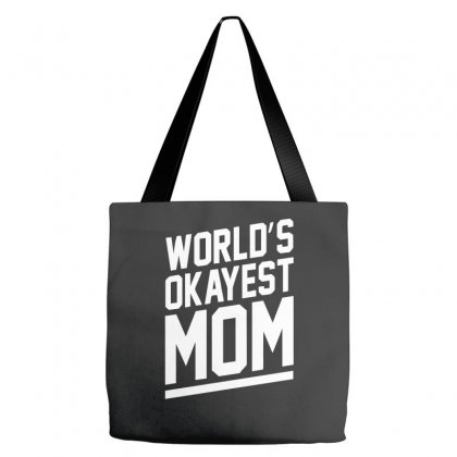 World's Okayest Mom Funny Tote Bags Designed By H4syim