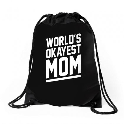 World's Okayest Mom Funny Drawstring Bags Designed By H4syim