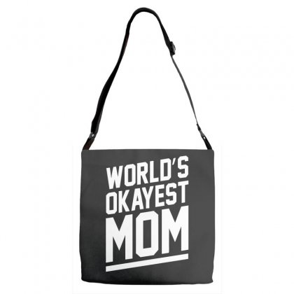World's Okayest Mom Funny Adjustable Strap Totes Designed By H4syim