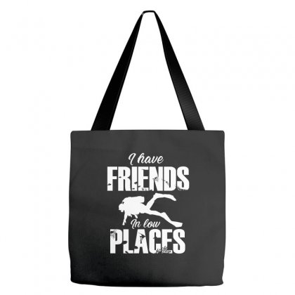 Friends In Low Places Diver Design Tote Bags Designed By Cogentprint