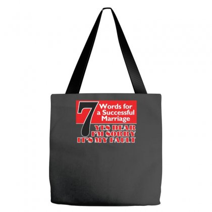 Funny  7 Words For Marriage, Ideal Gift, Birthday Present Tote Bags Designed By H4syim