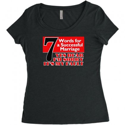 Funny  7 Words For Marriage, Ideal Gift, Birthday Present Women's Triblend Scoop T-shirt Designed By H4syim