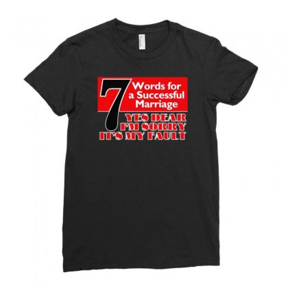 Funny  7 Words For Marriage, Ideal Gift, Birthday Present Ladies Fitted T-shirt Designed By H4syim
