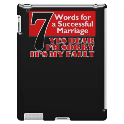 Funny  7 Words For Marriage, Ideal Gift, Birthday Present Ipad 3 And 4 Case Designed By H4syim