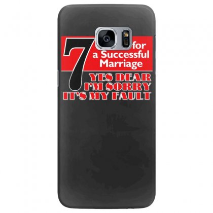 Funny  7 Words For Marriage, Ideal Gift, Birthday Present Samsung Galaxy S7 Edge Case Designed By H4syim