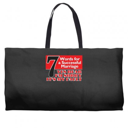 Funny  7 Words For Marriage, Ideal Gift, Birthday Present Weekender Totes Designed By H4syim