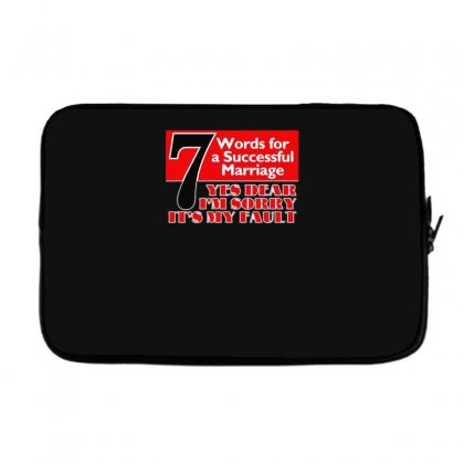 Funny  7 Words For Marriage, Ideal Gift, Birthday Present Laptop Sleeve Designed By H4syim