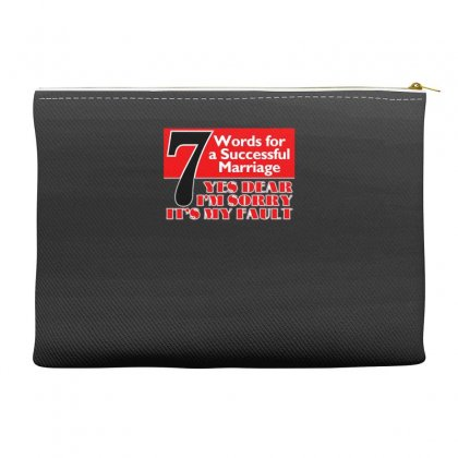 Funny  7 Words For Marriage, Ideal Gift, Birthday Present Accessory Pouches Designed By H4syim